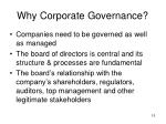 why corporate governance