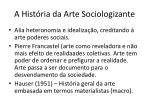 a hist ria da arte sociologizante