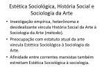 est tica sociol gica hist ria social e sociologia da arte