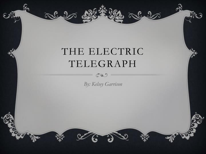 the electric telegraph n.
