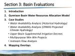 section 3 basin evaluations