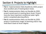 section 4 projects to highlight