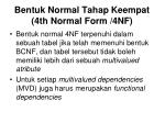 bentuk normal tahap keempat 4th normal form 4nf