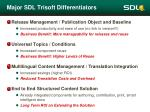 major sdl trisoft differentiators