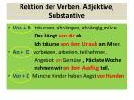 rektion der verben adjektive substantive
