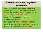 rektion der verben adjektive substantive1