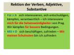 rektion der verben adjektive substantive2