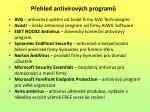 p ehled antivirov ch program