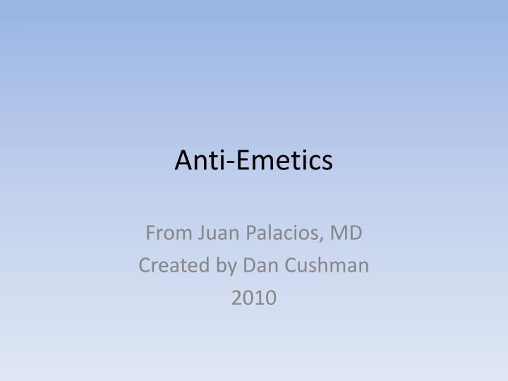 Anti-Emetics