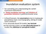 inundation evaluation system