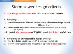 storm sewer design criteria