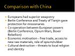 comparison with china