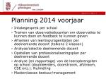 planning 2014 voorjaar