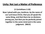 unity not just a matter of preference
