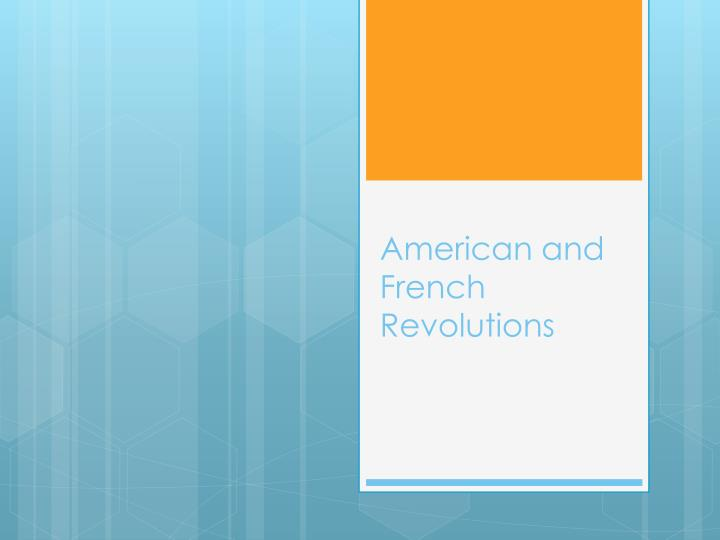 american and french revolutions n.