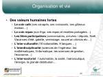 organisation et vie3