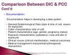 comparison between dic pcc cont d7