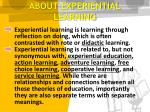 about experiential learning