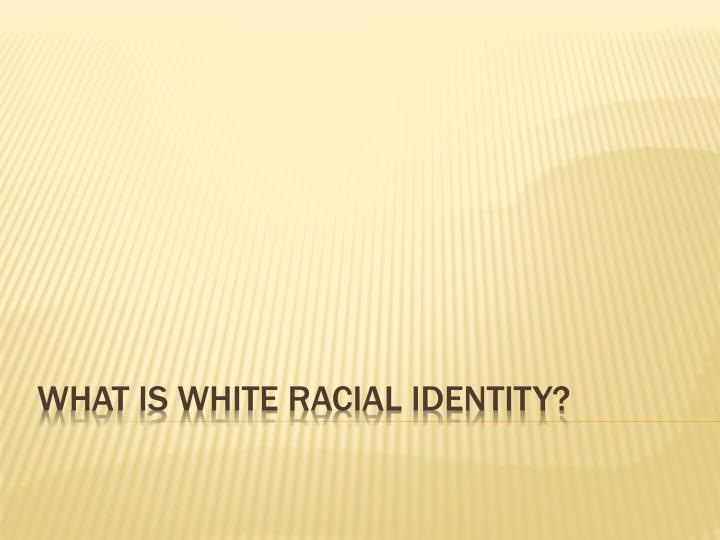 what is white racial identity n.