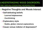 understanding mood disorders the social cognitive perspective