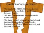 creation of a new church