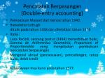 pencatatan berpasangan double entry accounting