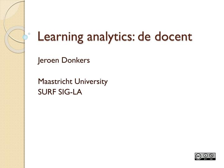 learning analytics de docent n.