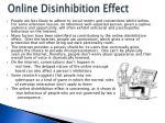 online disinhibition effect