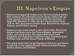 iii napoleon s empire