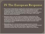 iv the european response