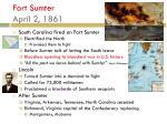 fort sumter april 2 1861