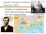 lincoln s inaugural address march 4 1861
