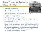 lincoln s inaugural address march 4 18611