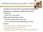 national banking system 1863