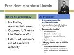president abraham lincoln
