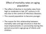 effect of mortality rates on aging population