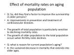 effect of mortality rates on aging population1
