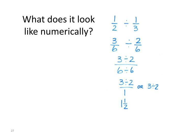 What does it look like numerically?