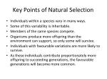 key points of natural selection