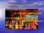china s golden age the tang dynasty