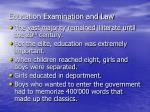 education examination and law
