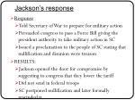 jackson s response
