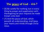 the peace of god 4 6 7