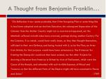 a thought from benjamin franklin