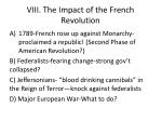 viii the impact of the french revolution