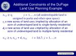 additional constraints of the dupage land use planning example