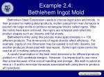 example 2 4 bethlehem ingot mold