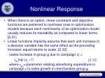 nonlinear response