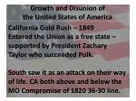 growth and disunion of the united states of america2