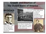 growth and disunion of the united states of america7